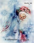 Marie, MODERN, MODERNO, paintings+++++,USJO99,#N# Joan Marie unicorn, Santa