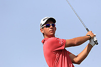 Lucas Herbert (AUS) on the 4th tee during Round 3 of the Omega Dubai Desert Classic, Emirates Golf Club, Dubai,  United Arab Emirates. 26/01/2019<br /> Picture: Golffile | Thos Caffrey<br /> <br /> <br /> All photo usage must carry mandatory copyright credit (© Golffile | Thos Caffrey)