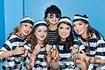 The Desmonds Ladies group of Mary Healy, HeatherJones, Emily O'Sullivan, Moya Sheehan and Anna Lynch who broke out of the Jailhouse Rock for Castleisland Lipsync on Saturday night