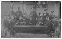 BNPS.co.uk (01202 558833)<br /> Pic:AmberleyPublishing/BNPS<br /> <br /> ***Please Use Full Byline***<br /> <br /> Soldiers drinking beer.<br /> <br /> A cookbook for WWI soldiers has been published for the first time in 100 years revealing the surprising recipes that British Tommies lived on in the trenches.<br /> <br /> Hundreds of thousands of troops were armed with The British Army Cook Book as they headed to off war in 1914.<br /> <br /> The book contained detailed instructions on how to rustle up mouth-watering menus to feed entire platoons using meagre war-time rations.<br /> <br /> The dishes might sound tempting but in reality those on the frontlines would have had to rely more on powdered foods because fresh produce often took too long to reach them.<br /> <br /> The 1914 British Army Cook Book has been reprinted by Amberley Publishing for the first time since it was first issued 100 years ago.<br /> <br /> It is on sale now for &pound;9.99.