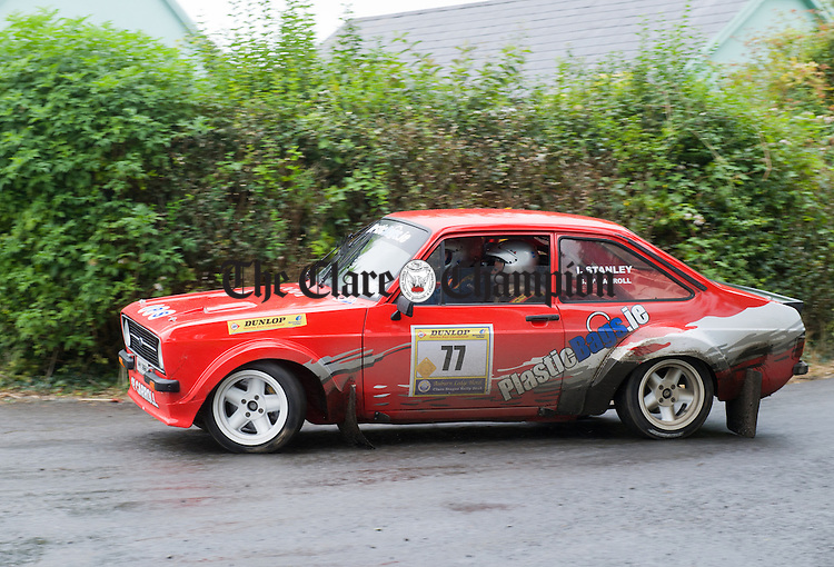 in action during Stage 3 of the Clare Stages Rally at Ruan. Photograph by John Kelly.