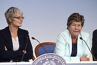 Roma, 7 Ottobre 2014<br /> Palzzo Chigi <br /> Conferenza stampa delle e dei leader sindacali al termine dell'incontro col Governo sul jobs act.<br /> Annamaria Furlan,Susanna Camusso.<br /> Rome, October 7, 2014 <br /> Palzzo Chigi <br /> Press conference of union's leader after the<br /> meeting with the Prime Minister  on jobs act