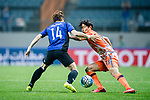 Jeju United Defender Chung Woon (R) fights for the ball with Gamba Osaka Defender Yonekura Koki (L) during the AFC Champions League 2017 Group H match Between Jeju United FC (KOR) vs Gamba Osaka (JPN) at the Jeju World Cup Stadium on 09 May 2017 in Jeju, South Korea. Photo by Marcio Rodrigo Machado / Power Sport Images