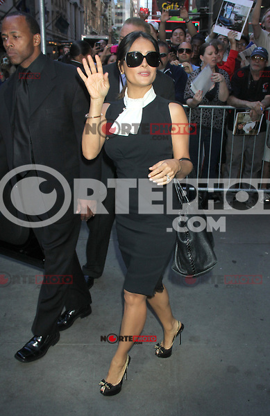 June 27, 2012 Salma Hayek at Good Morning America  in New York City to talk about her new movie Savages. &copy; RW/MediaPunch Inc. /**NORTEPHOTO:COM**<br /> **SOLO*VENTA*EN*MEXICO** **CREDITO*OBLIGATORIO**