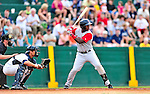 24 July 2010: Lowell Spinners outfielder Brandon Jacobs in action against the Vermont Lake Monsters at Centennial Field in Burlington, Vermont. The Spinners defeated the Lake Monsters 11-5 in NY Penn League action. Mandatory Credit: Ed Wolfstein Photo