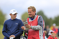 Matthew Fitzpatrick (ENG) an caddy Jamie on the 11th tee during Sunday's Final Round of the 2017 Omega European Masters held at Golf Club Crans-Sur-Sierre, Crans Montana, Switzerland. 10th September 2017.<br /> Picture: Eoin Clarke | Golffile<br /> <br /> <br /> All photos usage must carry mandatory copyright credit (&copy; Golffile | Eoin Clarke)