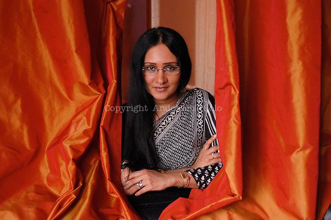 Ananda Devi, French writer in 2005.