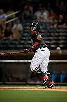 Birmingham Barons Yermin Mercedes (6) at bat during a Southern League game against the Chattanooga Lookouts on May 2, 2019 at Regions Field in Birmingham, Alabama.  Birmingham defeated Chattanooga 4-2.  (Mike Janes/Four Seam Images)