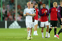 England players applaud the crowd after England Under-21 vs Poland Under-21, UEFA European Under-21 Championship Football at The Kolporter Arena on 22nd June 2017