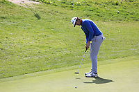 Nacho Elvira (ESP) putts on the 13th green during Thursday's Round 1 of the 2017 Omega European Masters held at Golf Club Crans-Sur-Sierre, Crans Montana, Switzerland. 7th September 2017.<br /> Picture: Eoin Clarke | Golffile<br /> <br /> <br /> All photos usage must carry mandatory copyright credit (&copy; Golffile | Eoin Clarke)