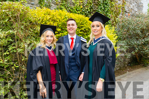 At the ITT Conferring Ceremony in the Brandon Hotel on Thursday were l-r Grace Mary Sheedy, Bachelor of Arts in Travel and Tourism Management, Paul Murphy, Business Studies Level 7 and Shauna Lynch, Bachelor of Arts in Travel and Tourism Management.