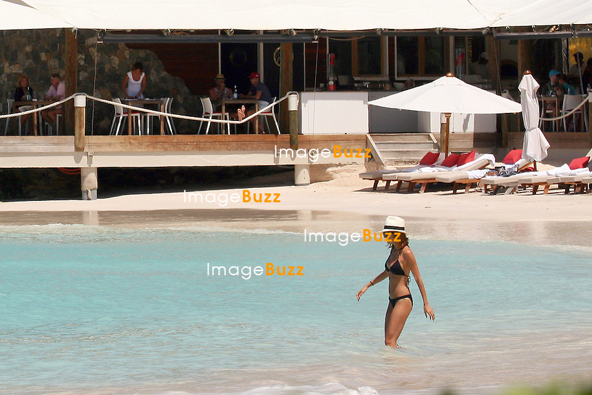 Nicole Richie takes a bikini dip while vacationing with friends in Saint Barth, on April 6, 2013...