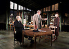 An Enemy of the People <br /> by Henrik Ibsen <br /> a version by Christopher Hampton <br /> at Chichester Festival Theatre, Chichester, West Sussex, Great Britain <br /> Press photocell <br /> 29th April 2016 <br /> Trevor Cooper as Morten Kiil<br /> Hugh Bonneville as Dr Tomas Stockmann <br /> Abigail Cruttenden as Mrs Stockmann <br /> <br /> <br /> Photograph by Elliott Franks <br /> Image licensed to Elliott Franks Photography Services