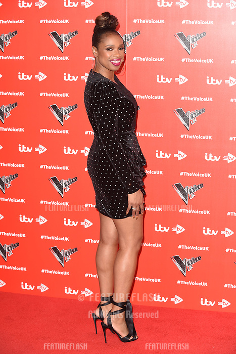 """LONDON, UK. January 03, 2019: Jennifer Hudson at the launch photocall for the 2019 series of """"The Voice"""" London.<br /> Picture: Steve Vas/Featureflash"""