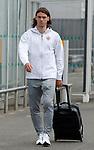 08.08.18 FK Maribor arrive at Glasgow airport: Denis Klinar