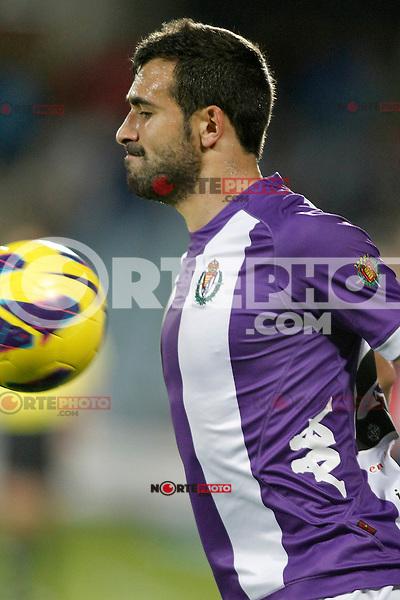 Real Valladolid's Mikel Balenziaga during La Liga match.November 18,2012. (ALTERPHOTOS/Acero)