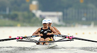 Poznan, POLAND.  2006, FISA, Rowing, World Cup,  NZL W2X, bow Georgina  EVERS-SWINDELL and Caroline EVERS-SWINDELL, move  away from  the  start, on the Malta  Lake. Regatta Course, Poznan, Thurs. 15.06.2006. © Peter Spurrier   .[Mandatory Credit Peter Spurrier/ Intersport Images] Rowing Course:Malta Rowing Course, Poznan, POLAND