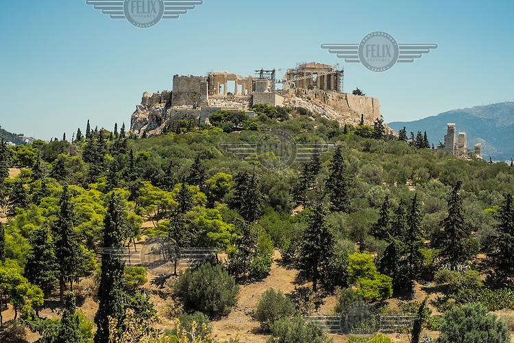 ATHENS, GREECE: view of the Achropolis.