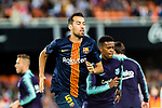 Sergio Busquets of FC Barcelona warming up during their La Liga 2018-19 match between Valencia CF and FC Barcelona at Estadio de Mestalla on October 07 2018 in Valencia, Spain. Photo by Maria Jose Segovia Carmona / Power Sport Images