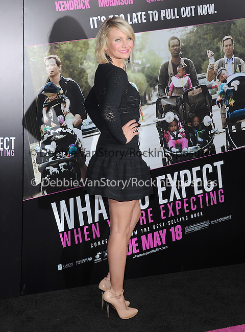 Cameron Diaz at Lionsgate L.A. Premiere of  What to Expect When You're Expecting held at The Grauman's Chinese Theatre in Hollywood, California on May 14,2012                                                                               © 2012 Hollywood Press Agency