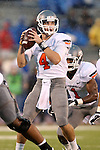 13 October 2012: Oklahoma State quarterback J.W. Walsh (4). The Oklahoma State University Cowboys played the University of Kansas Jayhawks at Memorial Stadium in Lawrence, Kansas in a 2012 NCAA Division I Football game.