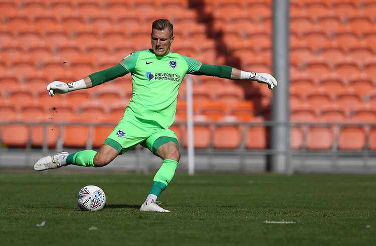 Portsmouth's goalkeeper Craig MacGillivray<br /> <br /> Photographer Stephen White/CameraSport<br /> <br /> The EFL Sky Bet League One - Blackpool v Portsmouth - Saturday 31st August 2019 - Bloomfield Road - Blackpool<br /> <br /> World Copyright © 2019 CameraSport. All rights reserved. 43 Linden Ave. Countesthorpe. Leicester. England. LE8 5PG - Tel: +44 (0) 116 277 4147 - admin@camerasport.com - www.camerasport.com