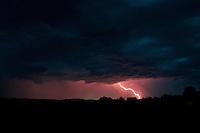 Late summer lightening strike over Oakley, Utah.  Winner Uinta Conservancy Photo Contest