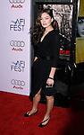"HOLLYWOOD, CA. - November 09: Actress Alexa Davalos arrives at the 2008 AFI Film Festival Presents ""Defiance"" at The ArcLight Cinemas on November 9, 2008 in Hollywood, California."