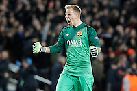 FC Barcelona's Marc-Andre Ter Stegen celebrates goal during Champions League 2014/2015 match.December 10,2014. (ALTERPHOTOS/Acero) /NortePhoto