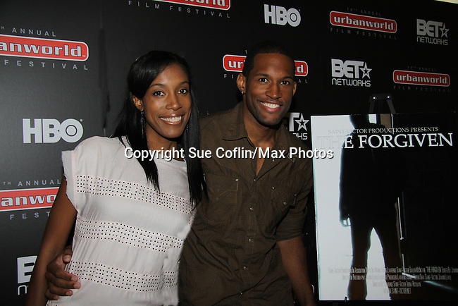 Wife Shay Saint-Victor joins Guiding Light's Lawrence Saint-Victor presented the independent short film The Forgiven in its World Premiere on September 17, and 18, 2010 at the 14th Annual Urban World Film Festival presented by BET Networks at the AMC Theatres 34th Street, New York City, New York. (Photo by Sue Coflin/Max Photos)