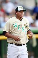 June 24, 2009: Wily Peralta of the Wisconsin Timber Rattlers at the 2009 Midwest League All Star Game at Alliant Energy Field in Clinton, IA.  Photo by: Chris Proctor/Four Seam Images