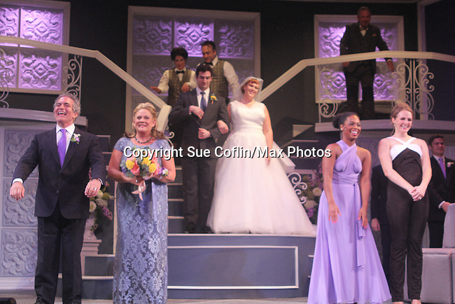 """Guiding Light's Kim Zimmer and cast Joel Briel, Kevin Toniazzo-Naughton, Molly Tower, Drew Tildon, Kayleen Seidl star in """"It Shoulda Been You"""" - a new musical comedy - at the Gretna Theatre, Mt. Gretna, PA on July 30, 2016. (Photo by Sue Coflin/Max Photos)"""