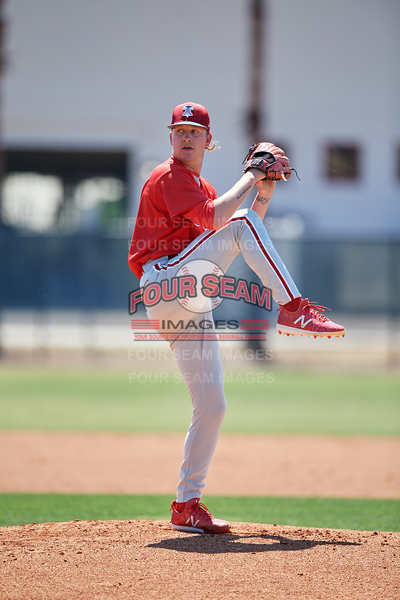 Philadelphia Phillies pitcher Bailey Falter (38) during a Minor League Spring Training game against the Pittsburgh Pirates on March 23, 2018 at the Carpenter Complex in Clearwater, Florida.  (Mike Janes/Four Seam Images)