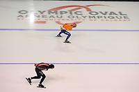 SPEEDSKATING: CALGARY: Olympic Oval, 01-12-2017, ISU World Cup, Sven Kramer - Ted-Jan Bloemen, 5k, ©photo Martin de Jong