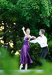 Tom Gold Dance Company in the summer garden at the Rockefeller Estate, Kykuit, in Pocantico Hills.