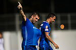 Lucas da Silva SC Kitchee (L) celebrating his score during the week two Premier League match between Kitchee and Dreams FC at on September 10, 2017 in Hong Kong, China. Photo by Marcio Rodrigo Machado / Power Sport Images