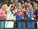 Rangers fans partying at Hampden after the 1996 Scottish Cup victory
