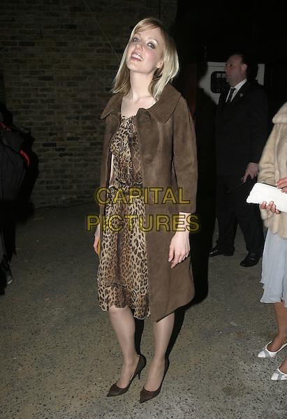 LAUREN LAVERNE.Elle Style Awards 2005,.Spitalfields Market, London,.February 15th 2005..full length brown leopard animal print dress coat.Ref: AH.www.capitalpictures.com.sales@capitalpictures.com.©Capital Pictures.