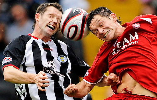 30TH AUG 2008, ST MIRREN V ABERDEEN AT ST MIRREN PARK, PAISLEY, STEVEN ROBB AND DEREK YOUNG, ROB CASEY PHOTOGRAPHY.