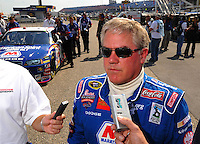 Oct 4, 2008; Talladega, AL, USA; NASCAR Sprint Cup Series driver Terry Labonte during qualifying for the Amp Energy 500 at the Talladega Superspeedway. Mandatory Credit: Mark J. Rebilas-