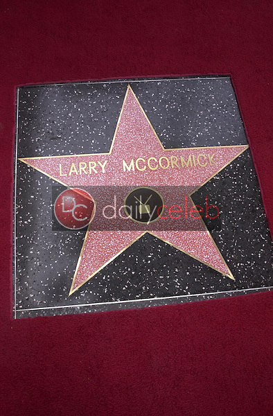 Larry McCormick's star on the walk of fame