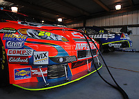 Mar 30, 2007; Martinsville, VA, USA; The cars of Nascar Nextel Cup Series drivers Jeff Gordon (24) and Jimmie Johnson (48) during practice for the Goody's Cool Orange 500 at Martinsville Speedway. Martinsville marks the second race for the new car of tomorrow. Mandatory Credit: Mark J. Rebilas..