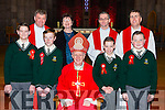Pupils from Loreto NS with Bishop Ray Browne at their Confirmation in St Mary's Cathedral on Friday Dan Kellliher, Charles O'Brien, Jack Geaney, Daniel Carroll. back Fr Niall Howard, Mary O'Sullivan Principal, Fr Kieran O'Brien, and Fr Jim Lynch