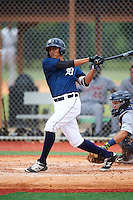 GCL Tigers East third baseman Jose Salas (32) at bat during a game against the GCL Tigers West on August 4, 2016 at Tigertown in Lakeland, Florida.  GCL Tigers West defeated GCL Tigers East 7-3.  (Mike Janes/Four Seam Images)