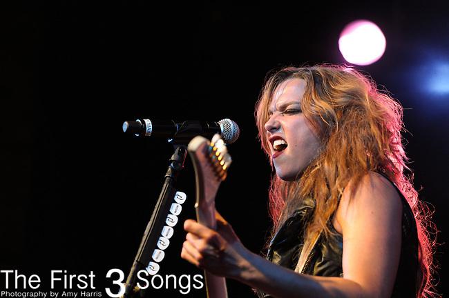 Lzzy Hale of Halestorm performs at Bogarts in Cincinnati, Ohio.