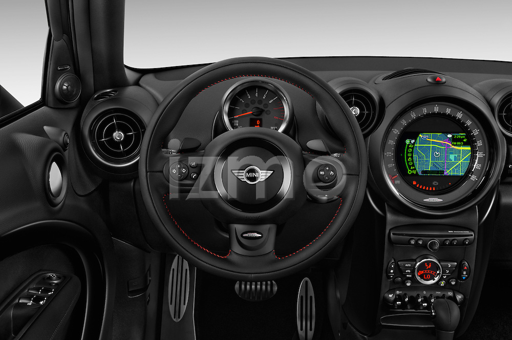 Car pictures of steering wheel view of a 2015 MINI Countryman John Cooper Works 5 Door Hatchback Steering Wheel