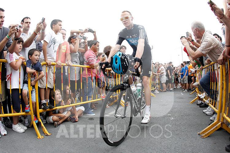 Christopher Froome during the stage of La Vuelta 2012 between Barakaldo and Valdezcaray.August 21,2012. (ALTERPHOTOS/Acero)