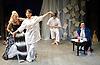 Prima La Musica<br /> Opera At Home Ensemble<br /> at The Arcola Theatre, London, Great Britain <br /> 25th August 2011 <br /> Rehearsal <br /> Grimeborn The Opera Festival<br /> directed by Jose Manuel Gandia<br /> <br /> Benjamin Gould (as Zanni 1)<br /> <br /> Leah Cooper (as Zanni 2)<br /> <br /> Victor Sgarbi (as Maestro)<br /> <br /> Alexia Mankovskaya (as Eleonora)
