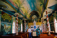 St. Benedict's Painted Church, South Kona area near Honaunau and Kealakekua bay