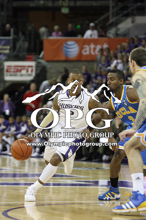 Mar 03, 2011:  Washington's #2 Isaiah Thomas drives to the basketball against UCLA.  Washington defeated UCLA 70- 63 at Alaska Airlines Arena Seattle, Washington...